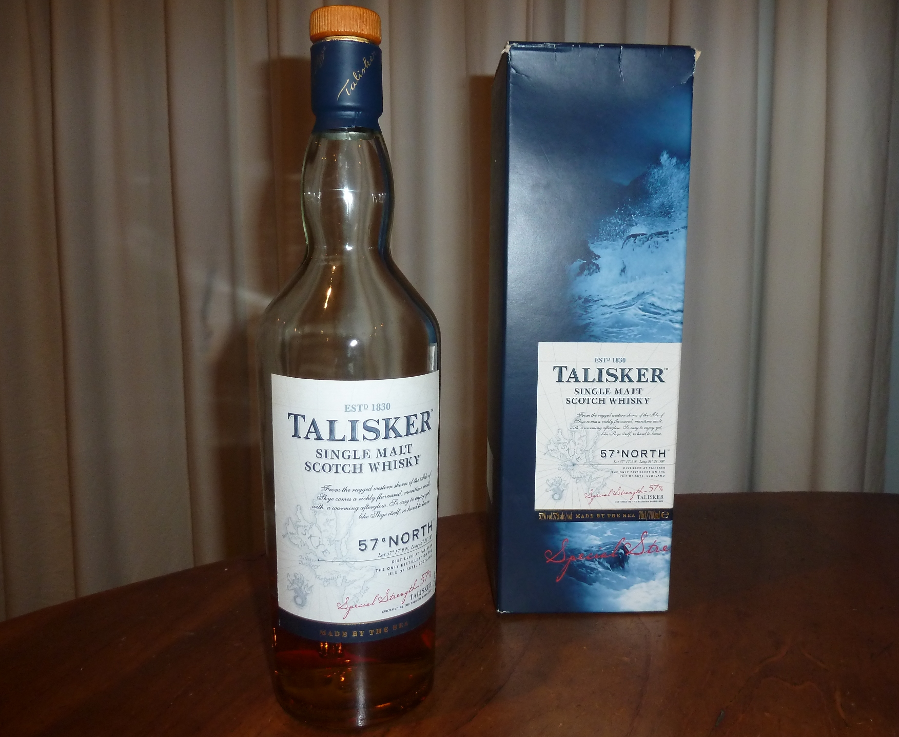 Talisker 57 degrees north whisky waffle