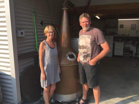 Matt and Juls Cooper of Fannys Bay Whisky Waffle