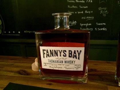 Fannys Bay Bottle whisky waffle