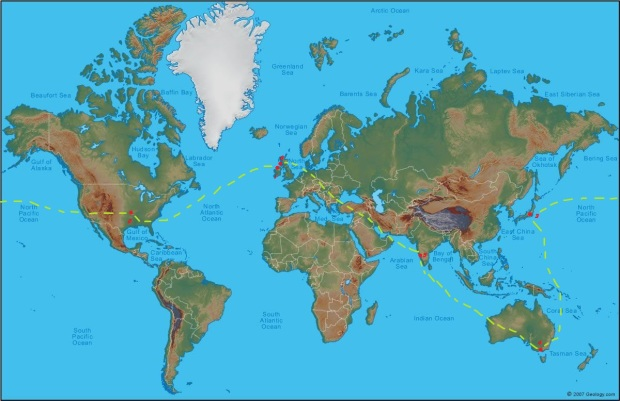 Whisky Waffle world tour map