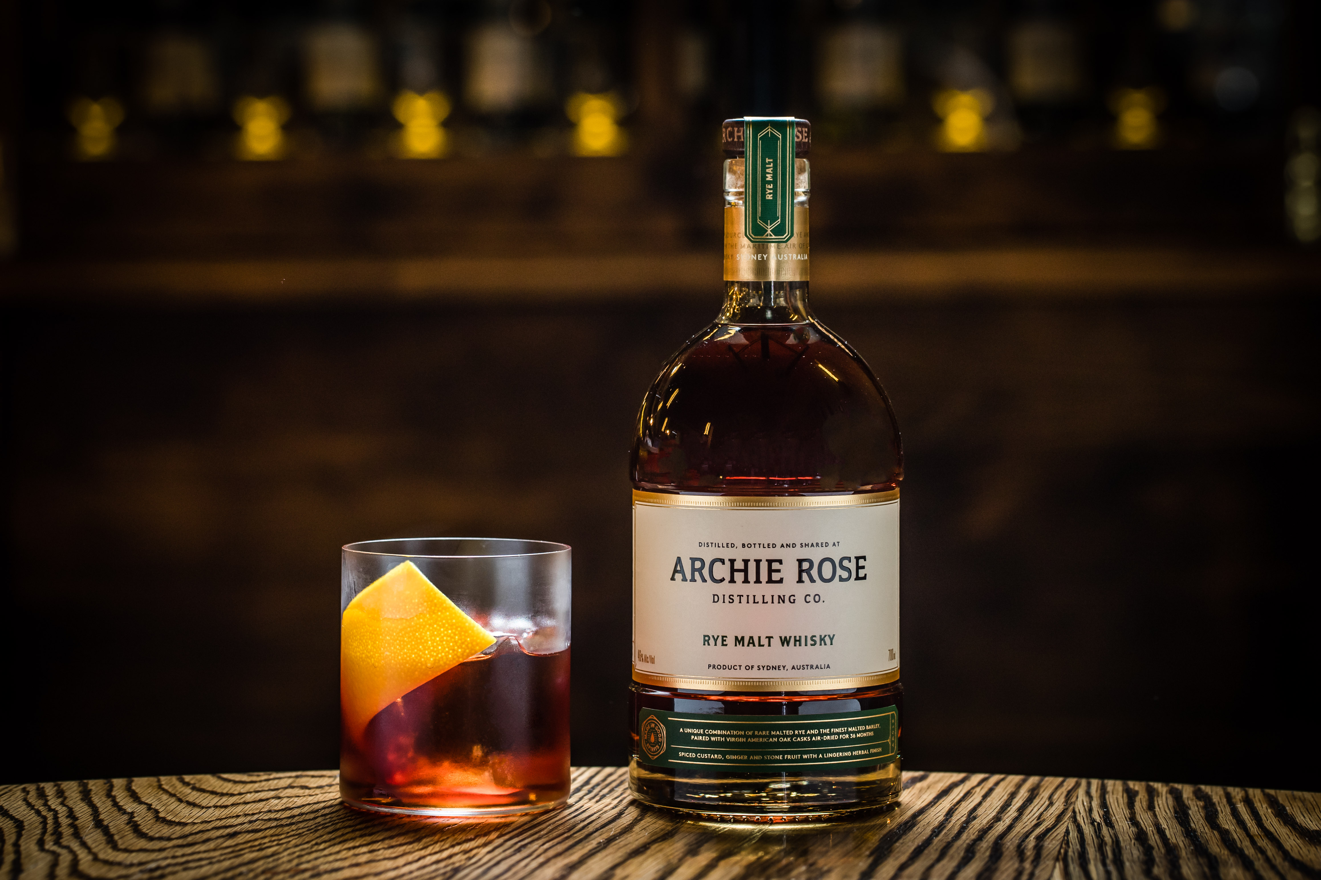 Archie Rose Rye Malt Whisky Boulevardier